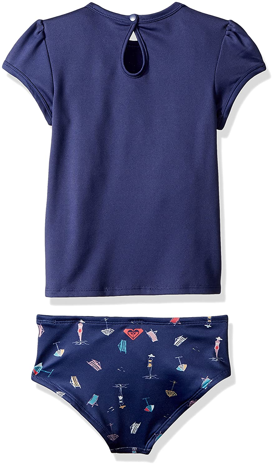 Roxy Little Girls Tropicool 14581 Sunshine Cobalt Rashguard y Parte ...