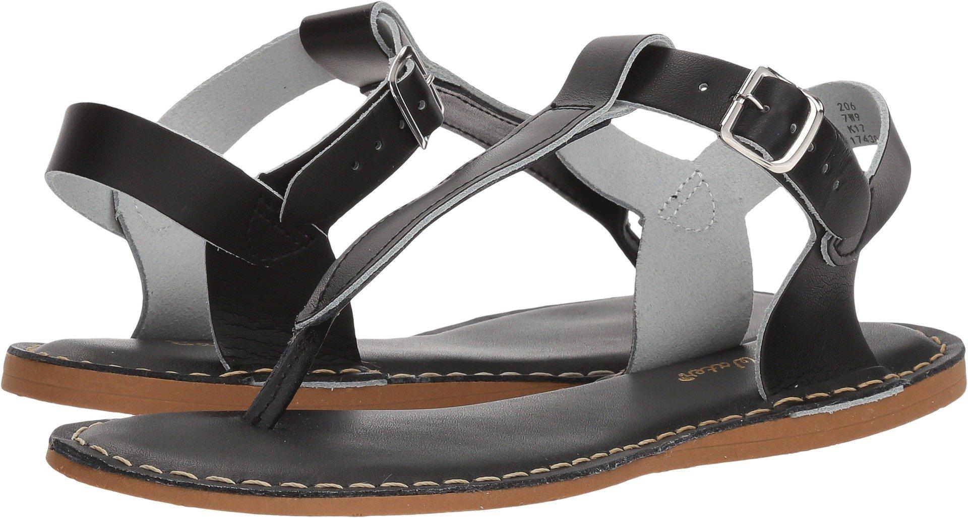 Salt Water Style 200 T-Thong Sandal,Black,6 M US Big Kid 8 M US Women's
