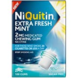 NiQuitin Extra Fresh Mint Gum, 2 mg, 100 Gums