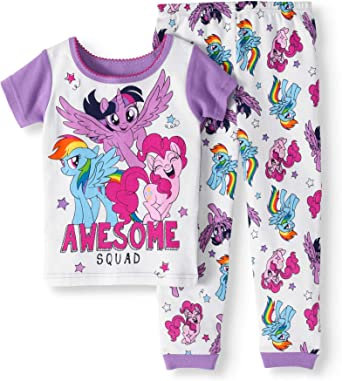 AME My Little Pony The Movie Toddler Girls Cotton Tight Fit Pajamas Pinkie Pie