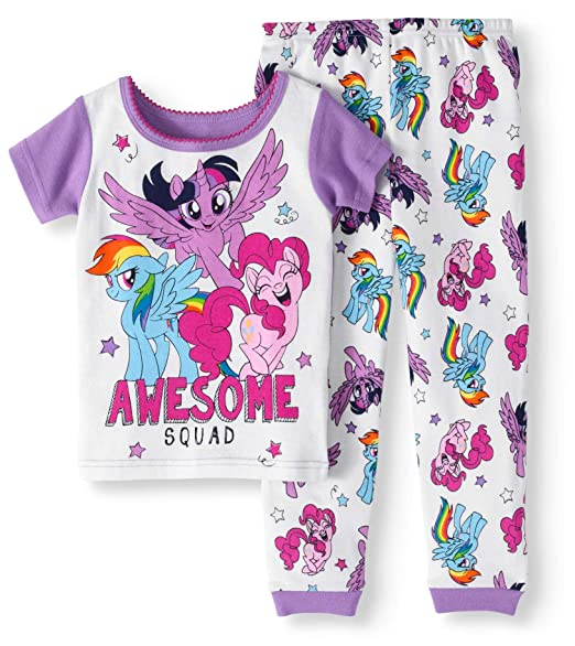 3a1a8902f1db Amazon.com  Hasbro AME My Little Pony Pajama Sleep Wear Set Toddler ...