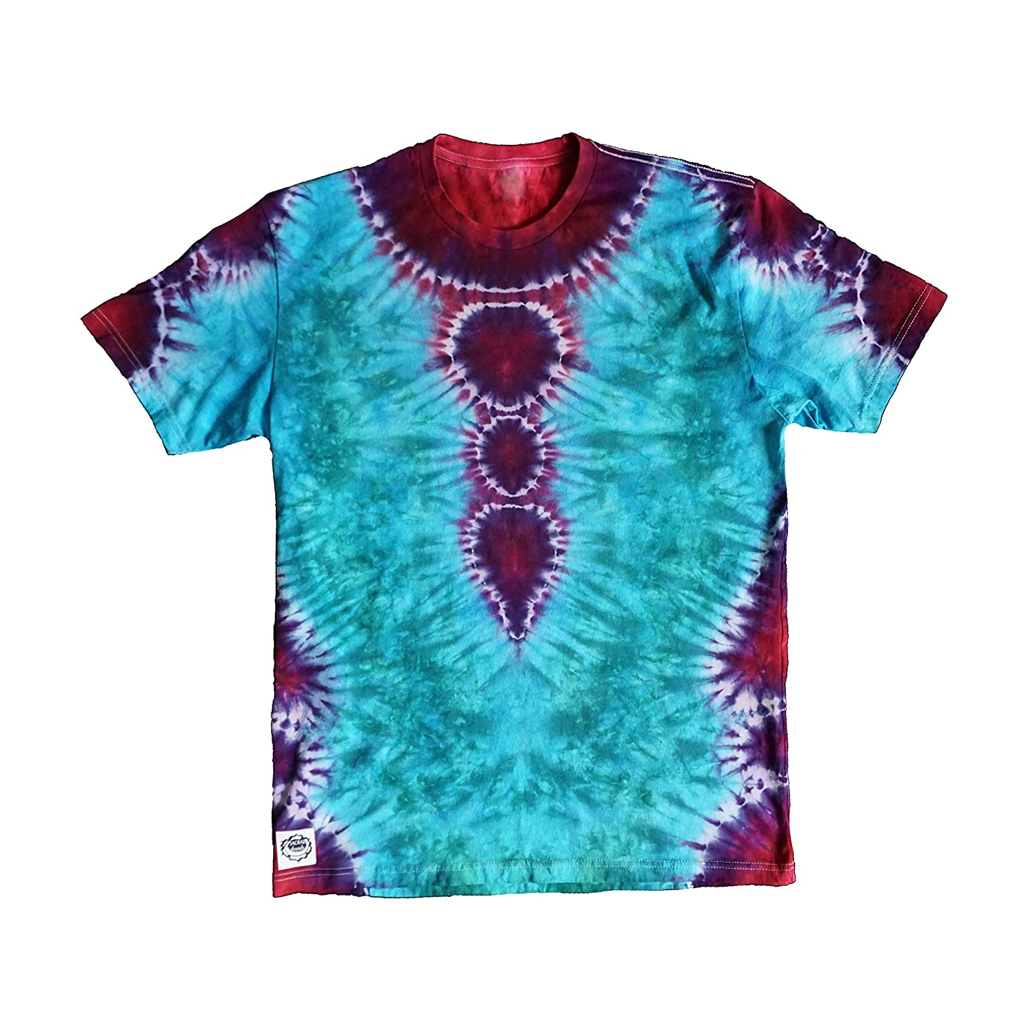 SACRAL threads Tie Dye Regular Fit Tee in Mens Large Turquoise