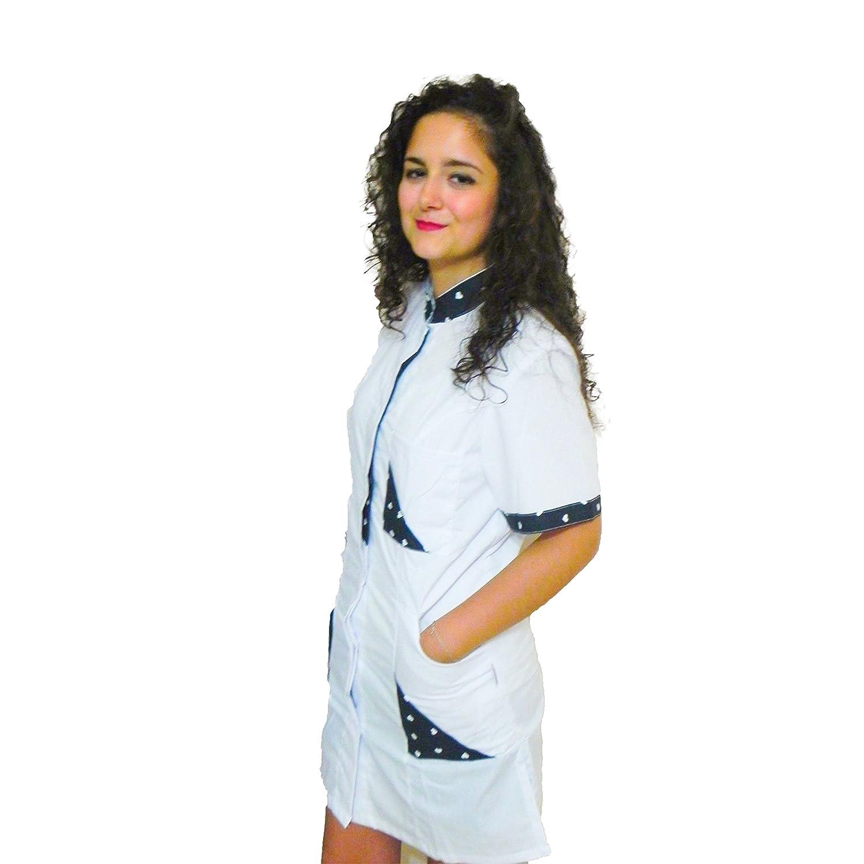 Petersabitidalavoro Camice da Lavoro Donna con Bottoni A Pressione Estetista ParrucchieraSLIM-Fit