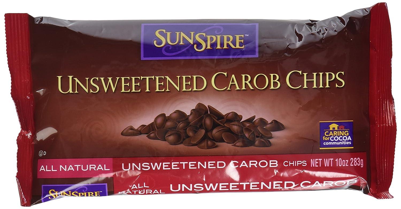 Amazon.com : SunSpire Unsweetened Carob Chips, 10 Ounce Bag ...