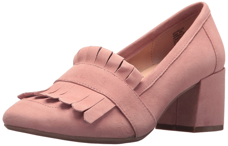 Kenneth Cole REACTION Women's Michelle Kilty Toe Dress Suede Pump B0761BDJKC 9 B(M) US|Blush