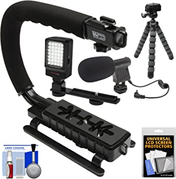Canon PowerShot A70 Vertical Shoe Mount Stabilizer Handle Pro Video Stabilizing Handle Grip for