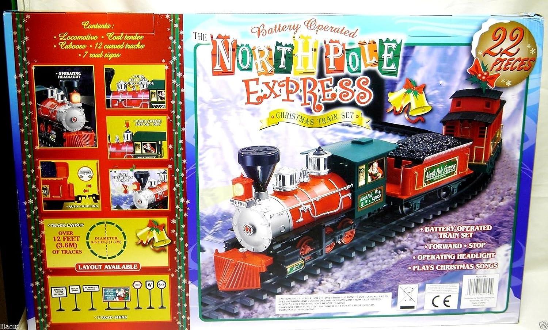 Amazon.com: North Pole Express Christmas Train Set G Gauge - Large ...