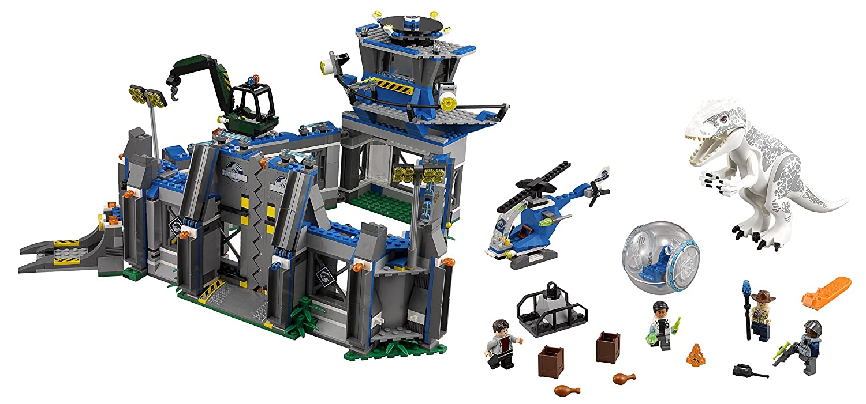 amazoncom lego jurassic world indominus rex breakout 75919 building kit toys games