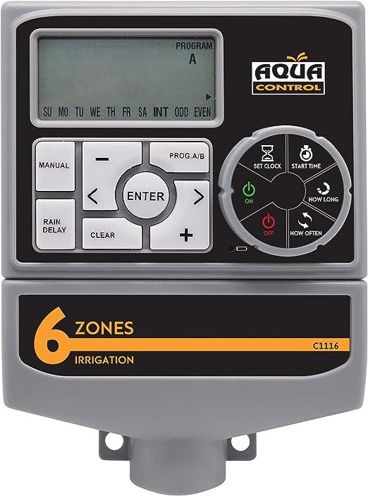 Aqua Control Programador riego, Gris, C1116: Amazon.es: Jardín