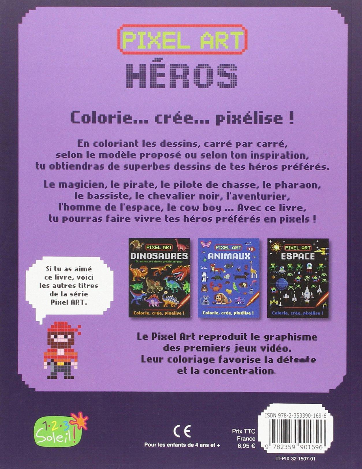 Amazonin Buy Pixel Art Heros Colorie Cree Pixelise