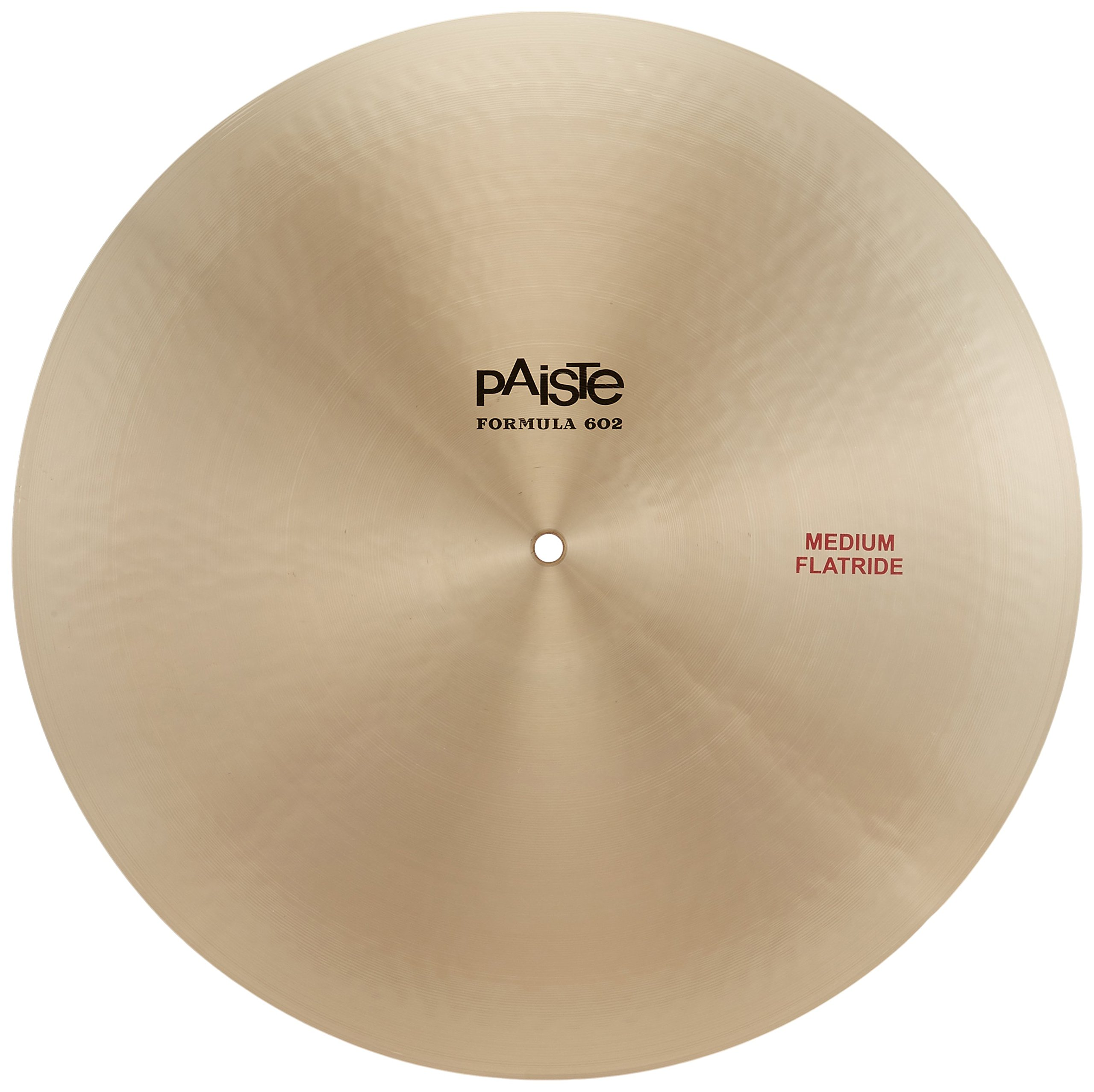 Paiste 20 Inches Formula 602 Classic Sounds Medium Flat Ride Cymbal by Paiste