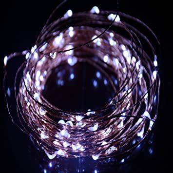 HAHOME Waterproof Led String Lights,33Ft 100 LEDs Indoor And Outdoor Starry  Lights With Power