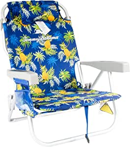 Tommy Bahama Backpack Cooler Beach Chairs - Blue Pineapple