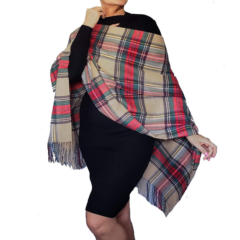 Handmade Plaid Flannel Poncho