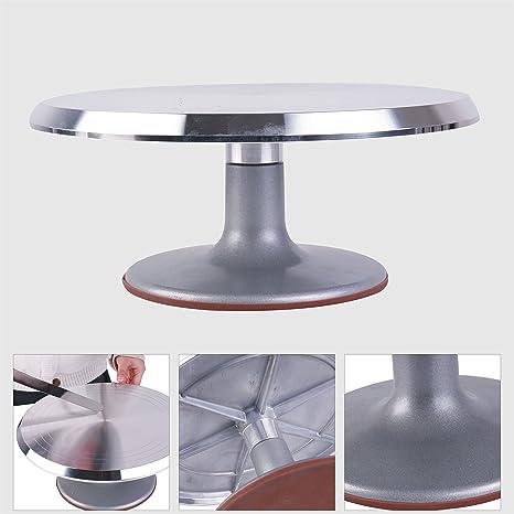 Pmland Cake Turntable 12 Revolving Rotating Cake Decorating Stand