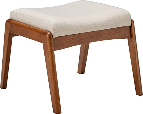 Baxton Studio Roxy Ottoman Light Beige