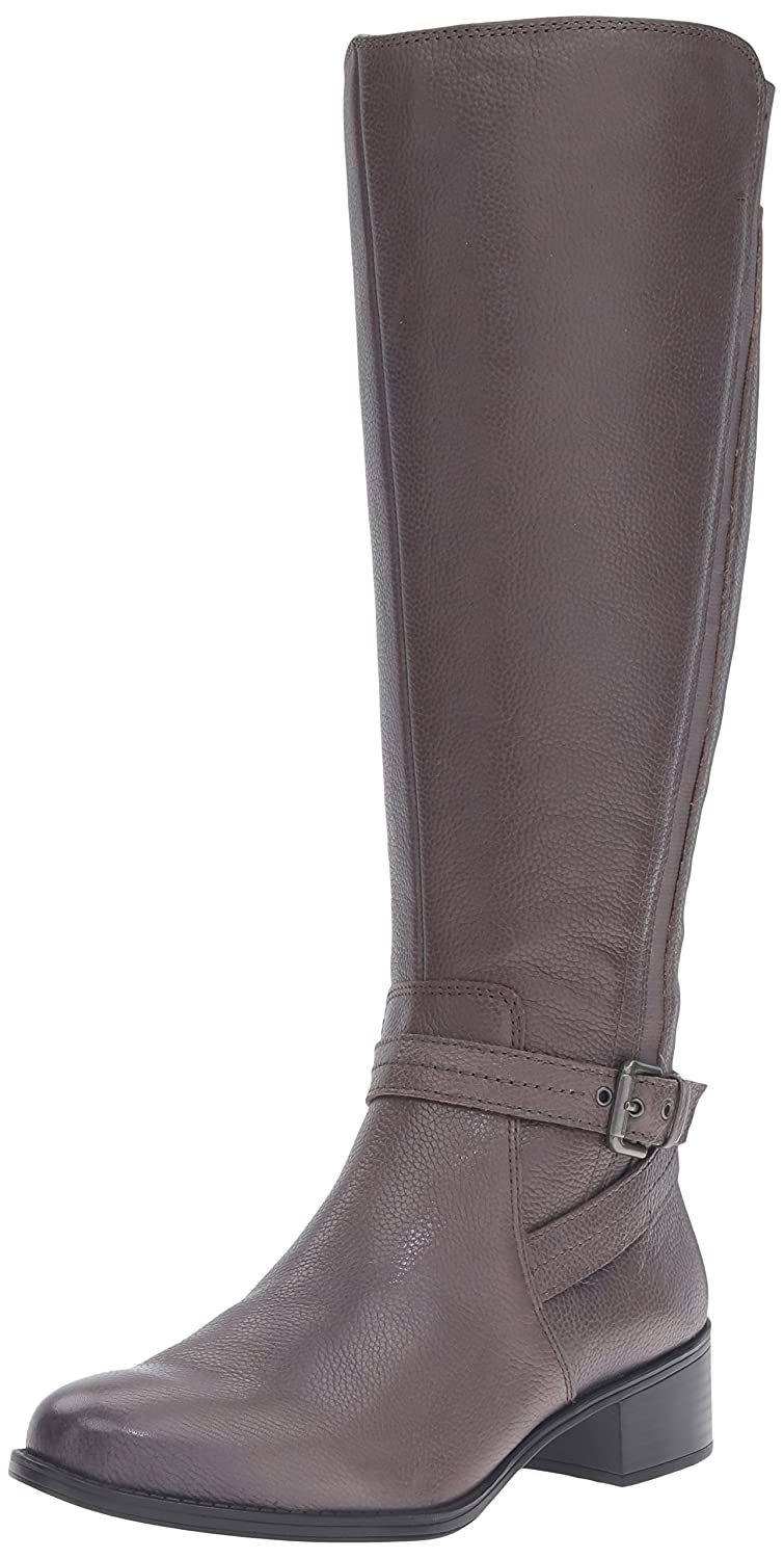 Naturalizer Women's Wynnie Riding Boot B01BUH9DT0 6.5 W (C)|Graphite Lead Leather