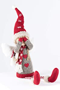 SoHearted | Angel Joy - 11 Inches | Handmade Christmas Angel Decoration Fabric Stuffed Figurine