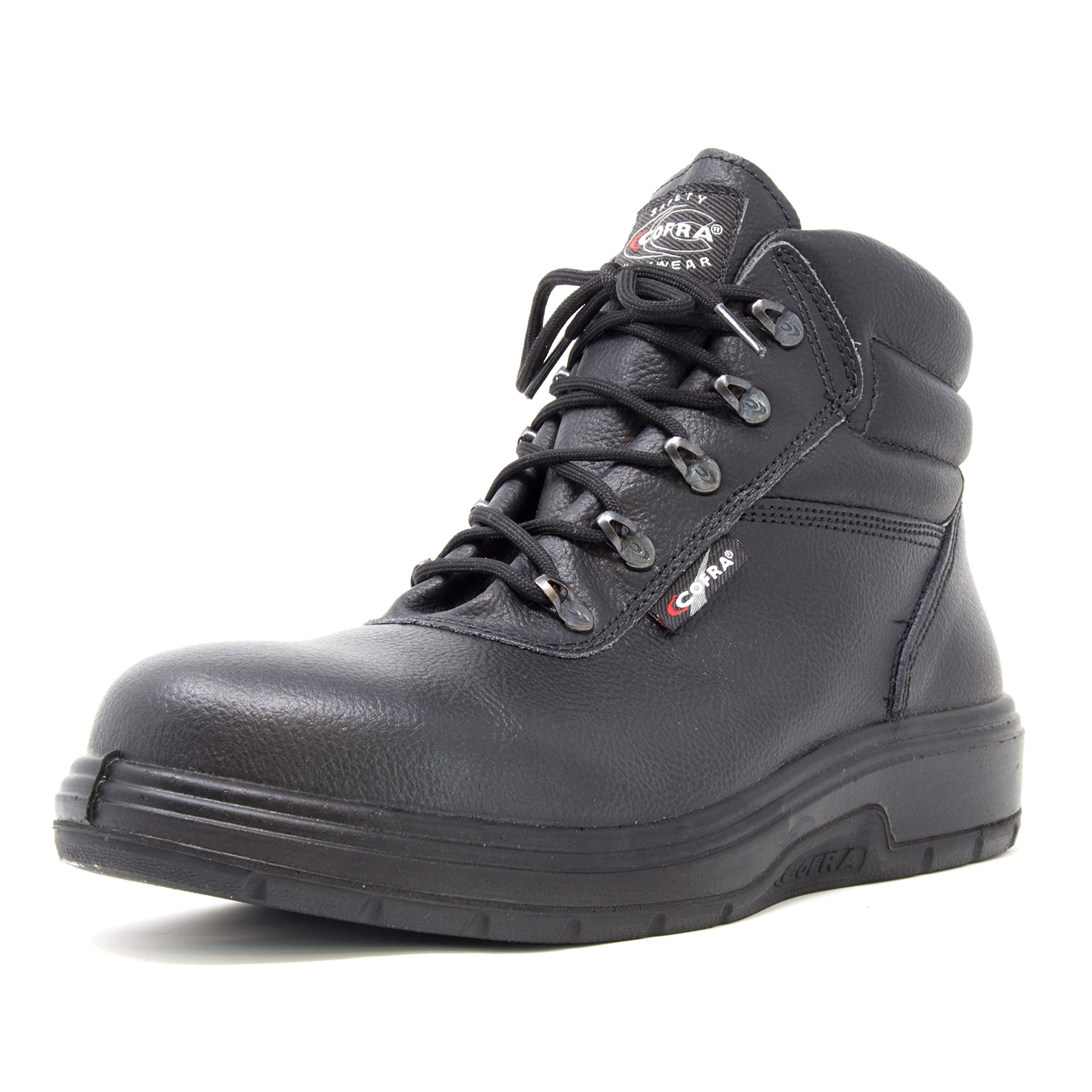 COFRA Leather Work Boots - NEW ASPHALT Treadless Footwear with Composite Safety Toe & Heat Defender Nitrile Rubber Outsole - Size 14