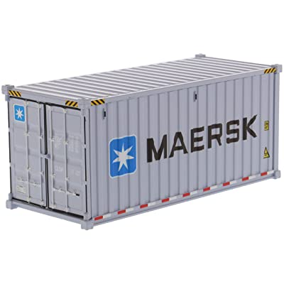 20' Dry Goods Sea Container MAERSK Gray Transport Series 1/50 Model by Diecast Masters 91025 E: Toys & Games