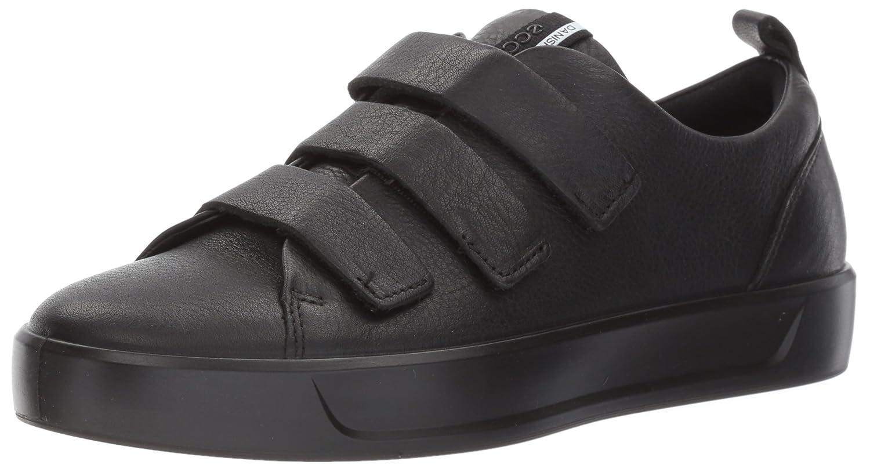 ECCO Women's Soft 8 Strap Sneaker B01MUENMVB 37 EU / 6-6.5 US|Black/Black