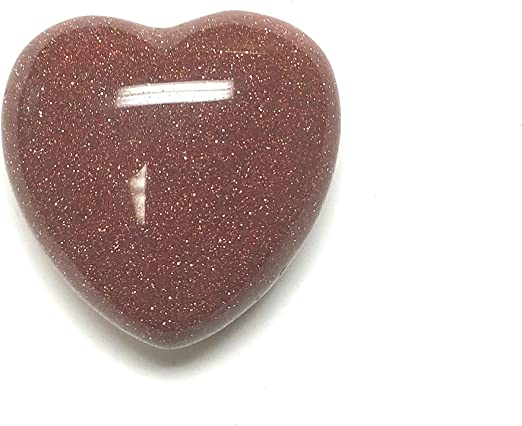 Unakite 30MM All Natural Polished Pocket Gemstone Crystal Puff Heart and Velvet Pouch Zentron Crystal Collection