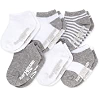 Burt's Bees Baby Baby, 6-Pack Ankle Socks with Non-Slip Grips, Made with Organic Cotton