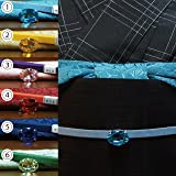 洗える 帯揚げ帯締めセット 3点セット 選べる6色 バラ織柄の無地帯揚 三分紐 キラキラ帯留め 小紋や紬に最適です 色が揃っているので便利!ase31016