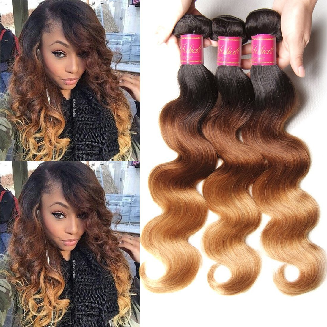Amazon Ali Julia Hair Brazilian Ombre Body Wave Virgin Hair