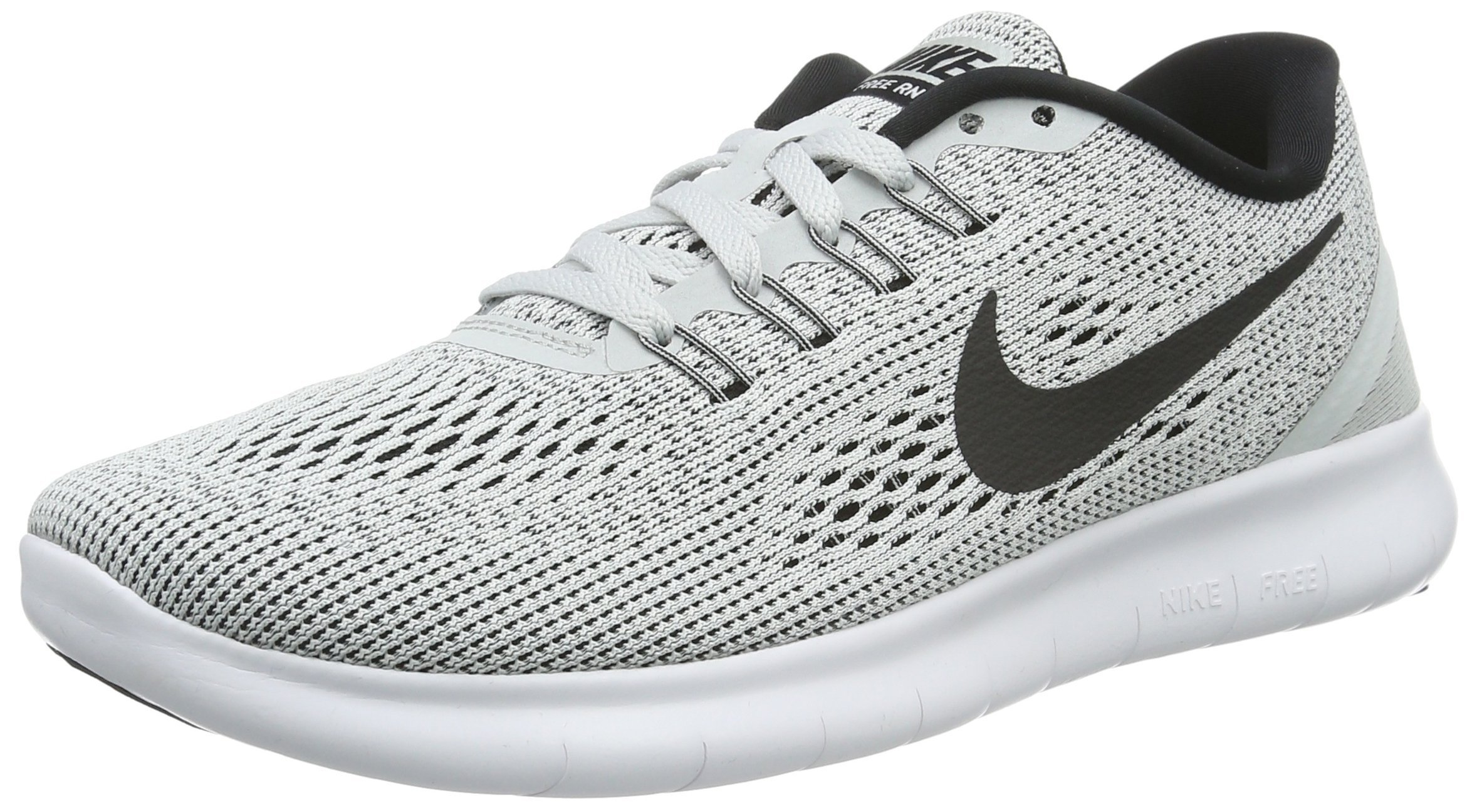 Nike Womens Free RN Running Shoe White/Black/Pure Platinum 6 by Nike (Image #1)