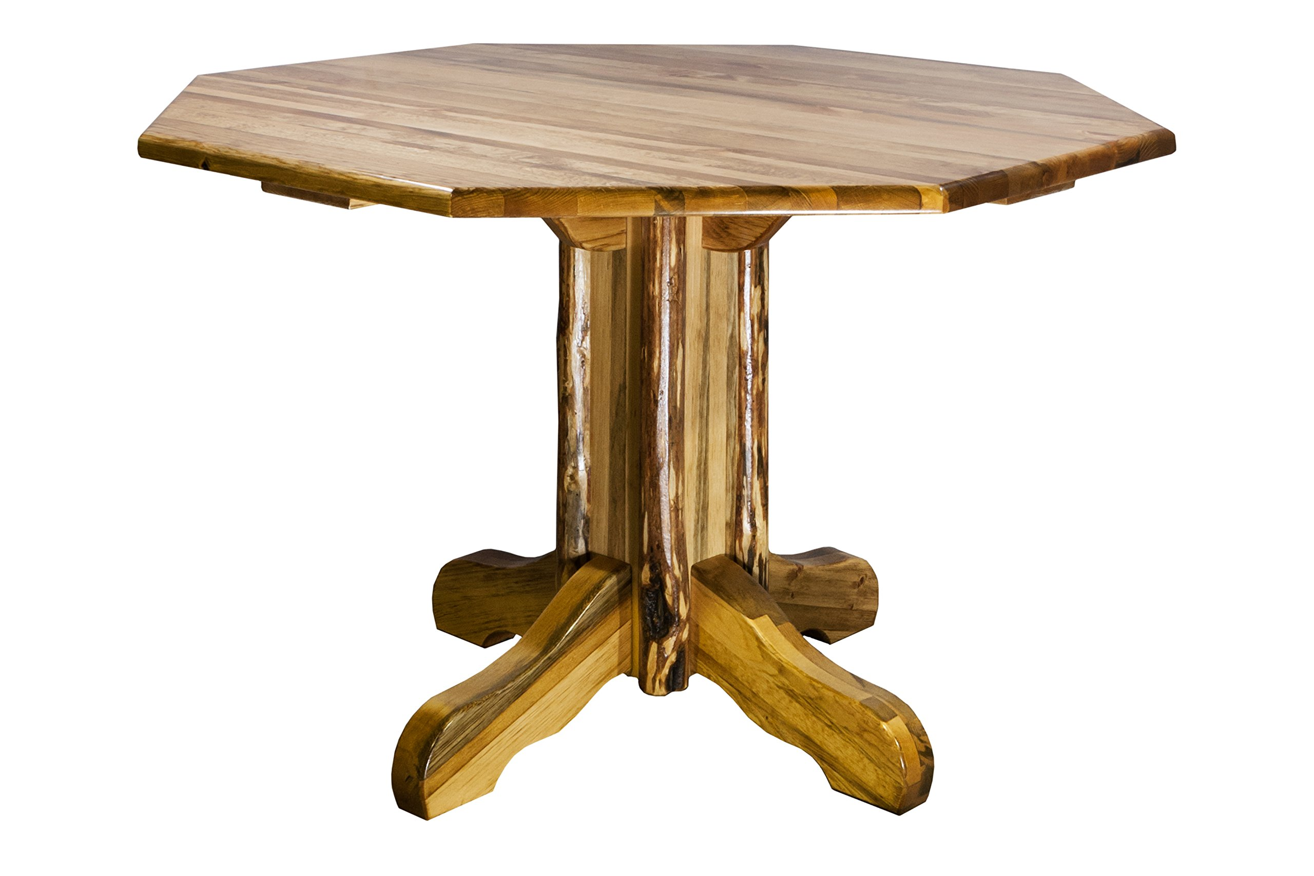 Montana Woodworks  Glacier Country Collection Center Pedestal Table with Octagonal Table Top by Montana Woodworks (Image #1)