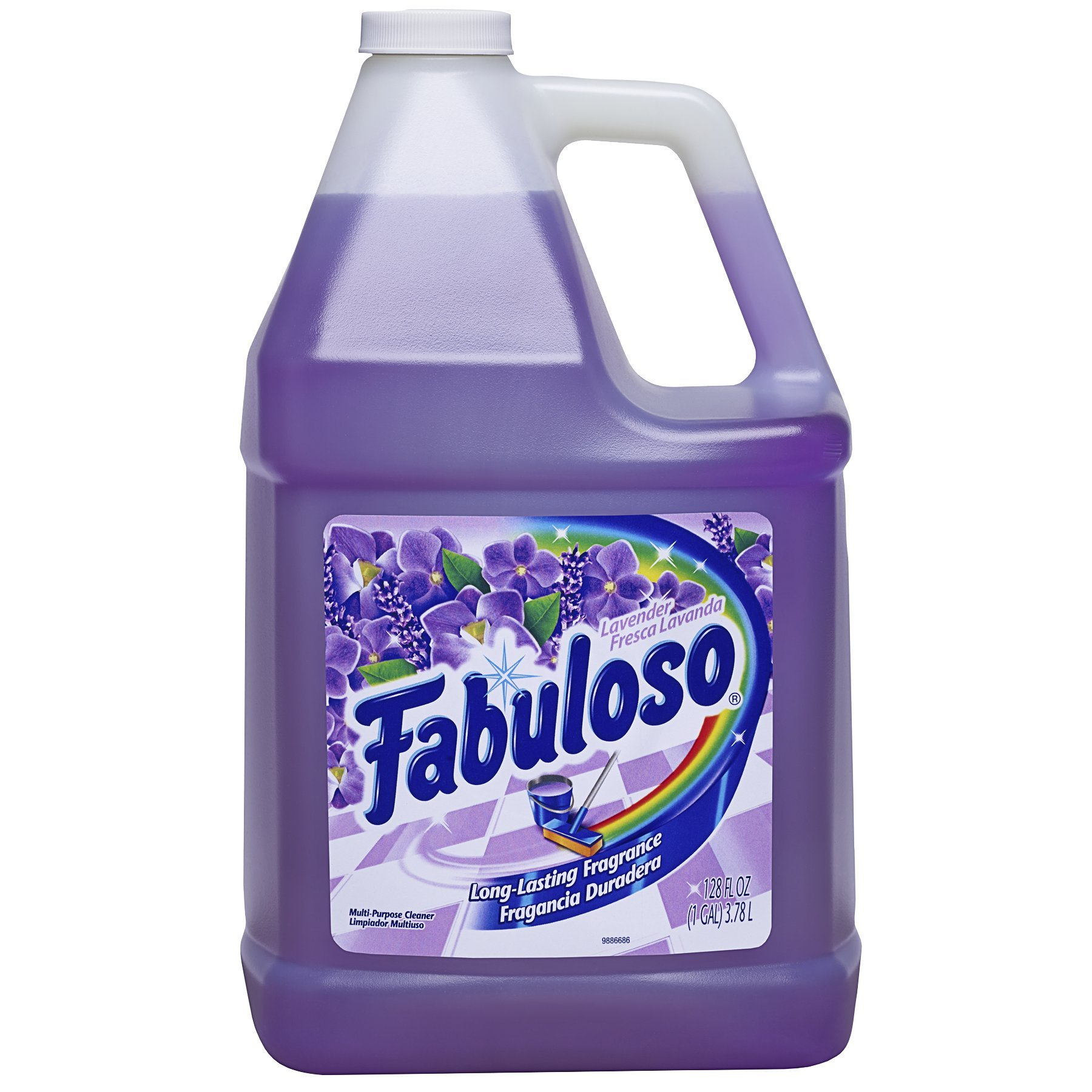 FABULOSO All Purpose Cleaner, Lavender, Bathroom Cleaner, Toilet Cleaner, Floor Cleaner, Glass Cleaner, Washing Machine and Dishwasher Surface Cleaner, Mop Cleanser, 128 Fluid Ounce (Pack of 2) (US05402A)