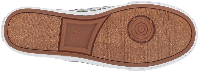 Lauren by Ralph Lauren Women's Janis Sneaker B0767TD962 6 B(M) US|Pinstripe Floral Print