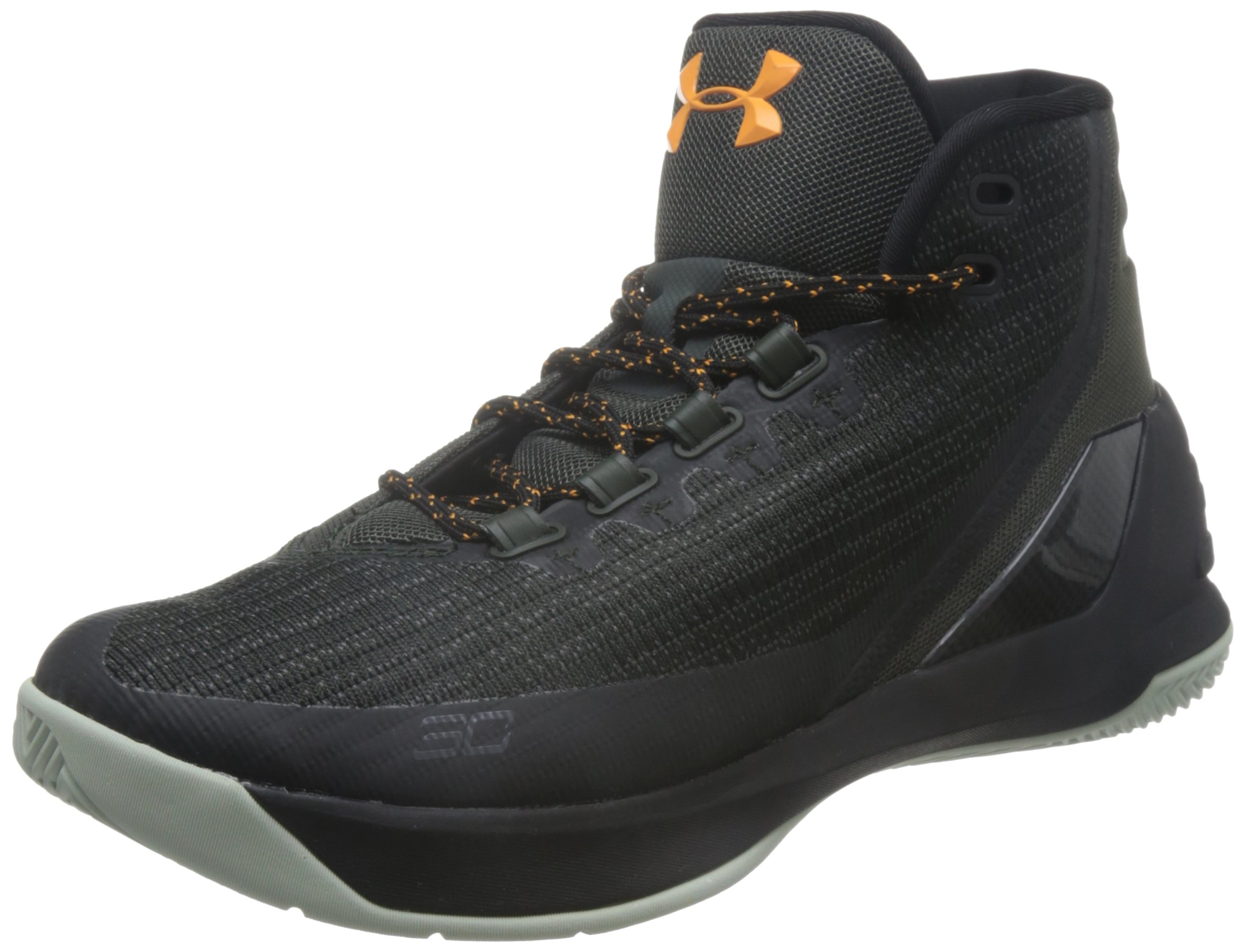 Under Armour Mens Curry 3 Basketball Shoe (11 D(M) US, Artillery Green/Black)