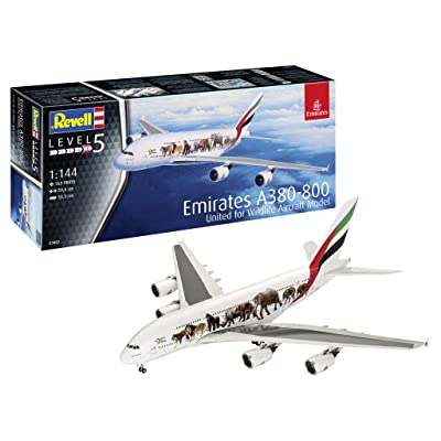Revell 03882 1:144 Airbus A380-800 Emirates  'Wild Life' Plastic Model Kit: Toys & Games