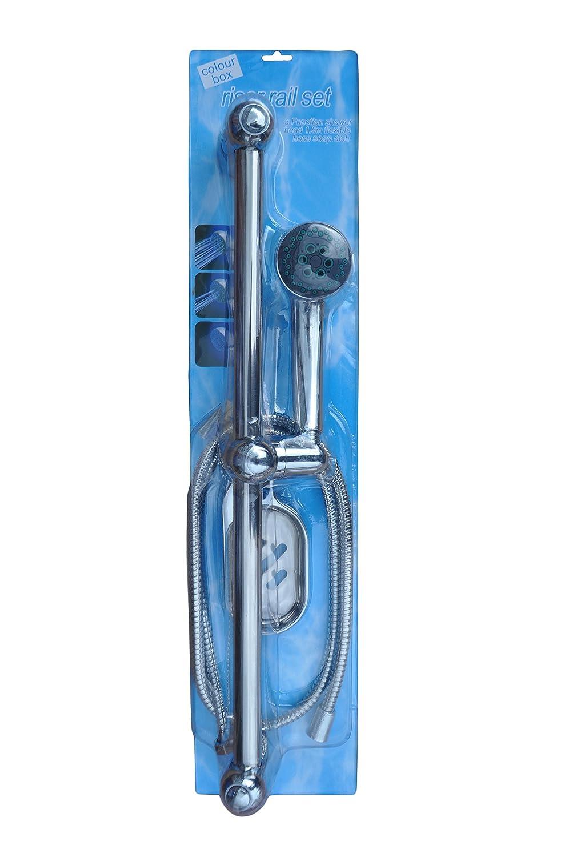 Bo te de couleur barre douche avec porte savon ebay for Boite porte savon