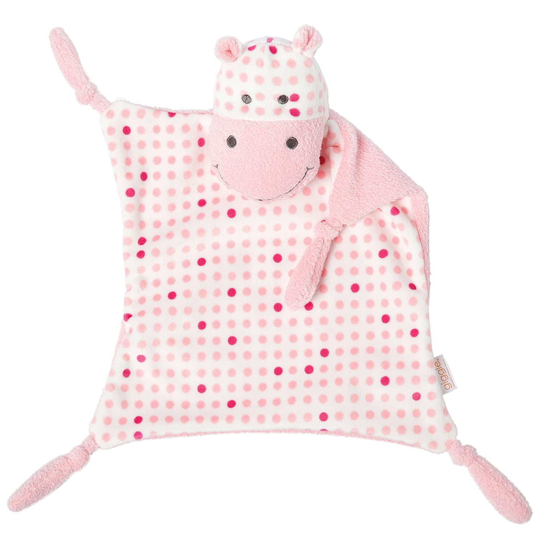 Manhattan Toy Giggle Hippo Blankie-Pink Crib Toy, Pink Hippo 314400