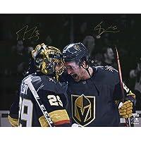"$159 » Marc-Andre Fleury & Mark Stone Vegas Golden Knights Autographed 16"" x 20"" Spotlight Photograph - Autographed NHL Photos"