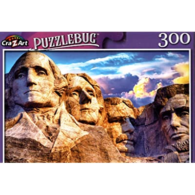 Mt. Rushmore National Memorial, SD - 300 Pieces Jigsaw Puzzle: Toys & Games