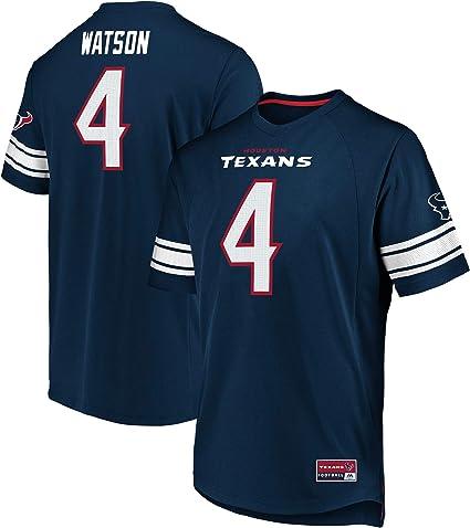 Houston Texans #4 Watson Majestic NFL Fan Shirt