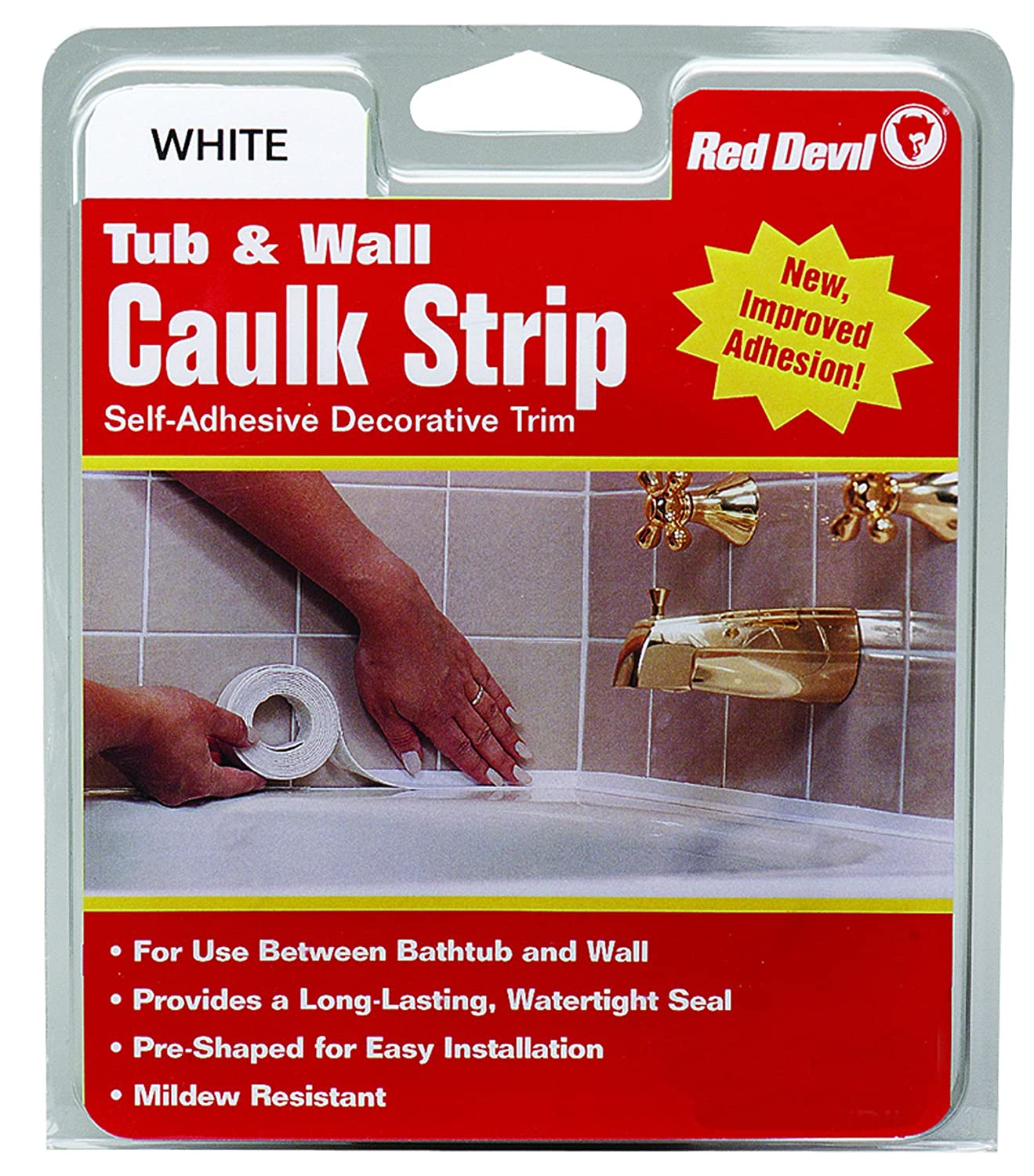 Best Caulk For Trim Amazoncom Red Devil 0151 Wide White Tub Wall Caulk Strip 1 5 8