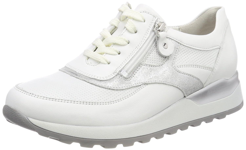Waldläufer Hiroko - zapatos con cordones de piel mujer 39.5 EU  (6 UK)|Weiß (Memphis Fakir Glitter Weiss Weiss Silber)
