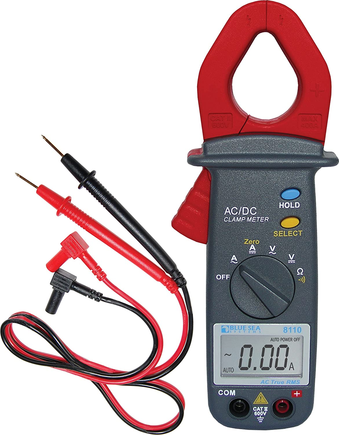 Blue Sea Systems Mini Clamp AC/DC Multimeter 8110