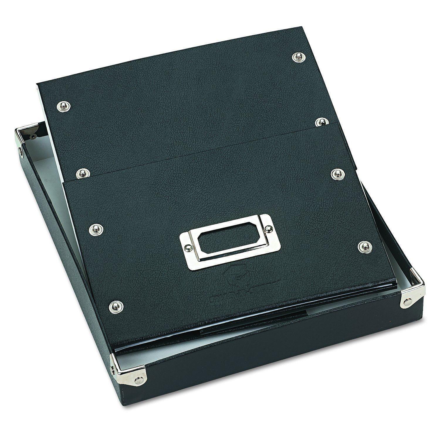 Snap-N-Store SNS01647 Collapsible Index Card File Box Holds 1,100 5 x 8 Cards Black