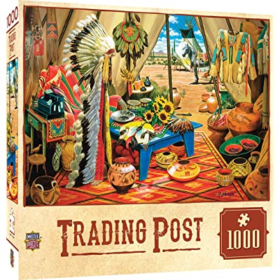 MasterPieces Tribal Spirit Jigsaw Puzzle, Trading Post, Featuring American Indian Tribe Traditions & Ceremonies, 1000 Pieces: Toys & Games
