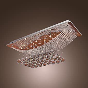 Lightinthebox Luxuriant Crystal LED Flush Mount Light With 8 Lights Modern Contemporary Ceiling