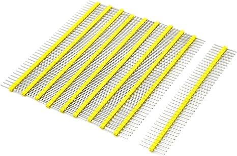 Yellow  Pack of 5 1x40 40-Pin Female Straight Header 2.54mm
