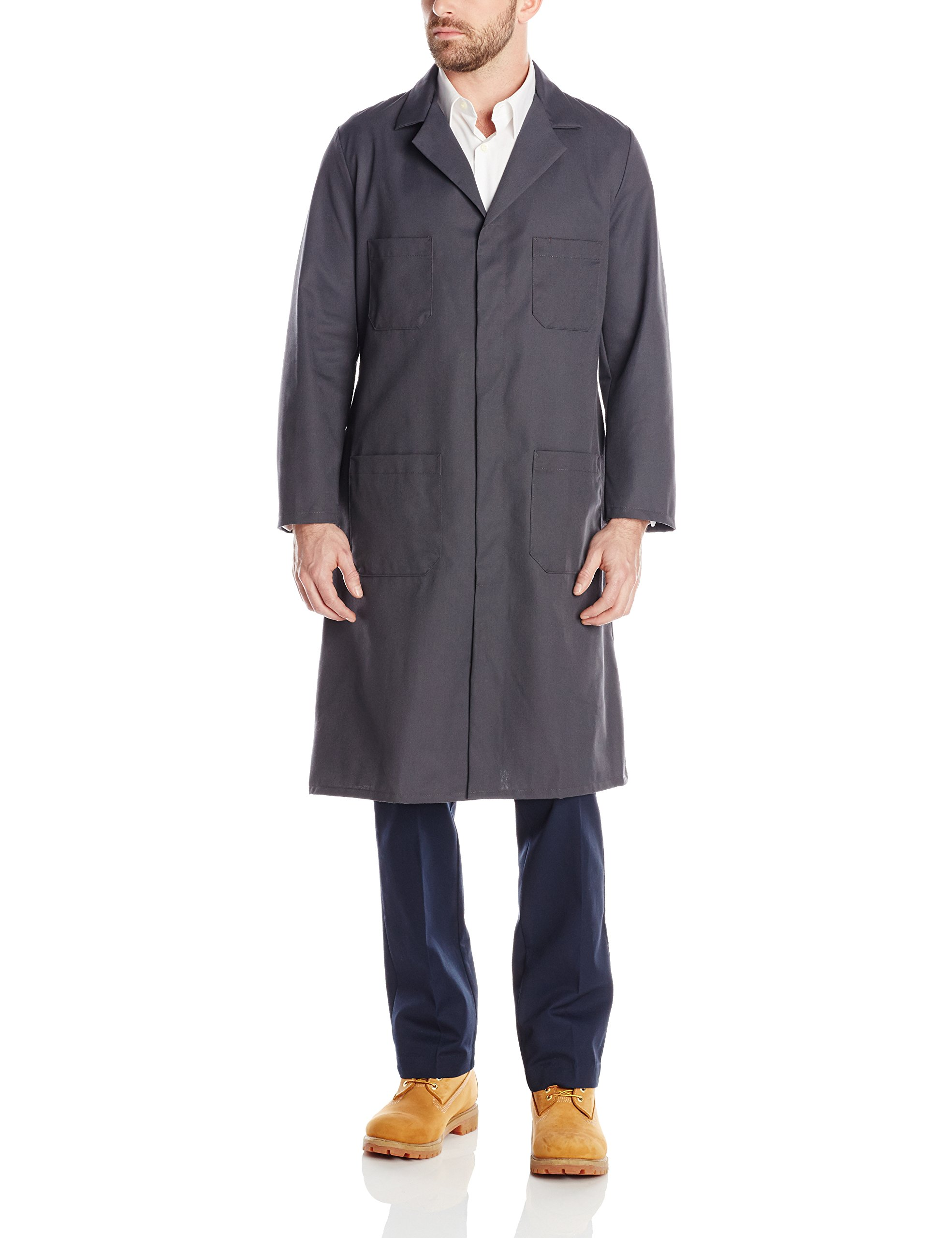 Red Kap Men's Shop Coat, Charcoal, 48 by Red Kap