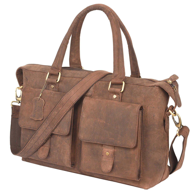 0d59a63e9e Leaderachi-100% Genuine Hunter Leather Women s Laptop Briefcase Bag   Piedmont   Amazon.in  Bags