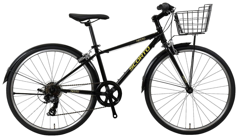 NESTO(ネスト) 【完全組立】24型スコルトJr-K 外装7段 ジュニアクロスバイク 340mm ブラック NE-18-008   B07F1T1XFZ